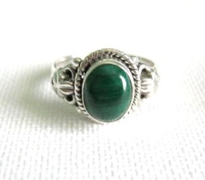 malachite silver 925 ring jewellery