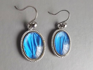 vintag butterfly wing earrings jewellery
