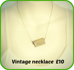 vintage style envelope and love letter pendant necklace charm