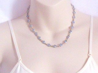 Marks and spencer glass oplaite necklace jewelry