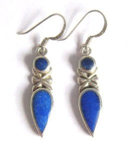 Lapis Lazuli 925 silver earrings