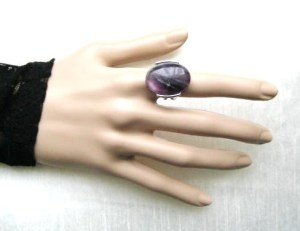 purple quartz amethyst modernist cocktail ring