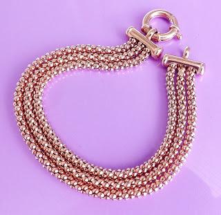 Vintage 9k 9ct rose pink gold chain bracelet jewelry hallmarked