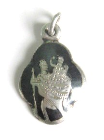 siam silver st christopher charm pendant (4)