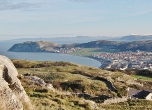 views from great orme llandudno wales