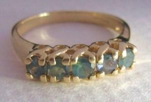 18ct gold alexandrite russian gemstone colour change jewellery 18k