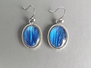 vintage 60s butterfly wing earrings jewellery morpho