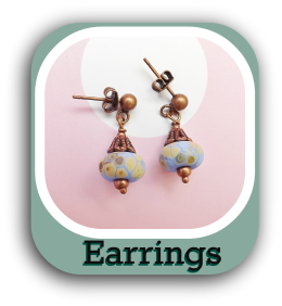 Shop online UK for unique crystal glass bead handmade jewellery earrings
