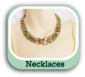 Shop online UK for unique crystal glass bead handmade jewellery necklaces and charm pendants