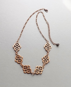 handmade copper celtic pattern knotwork chain necklace handmade fashion jewellery