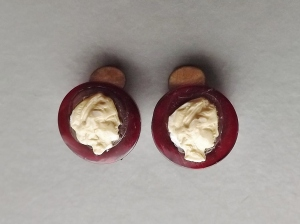 vintage art deco plastic cameo clip on earrings